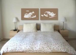 So könnte Ihr Bild im Schlafzimmer hängen
